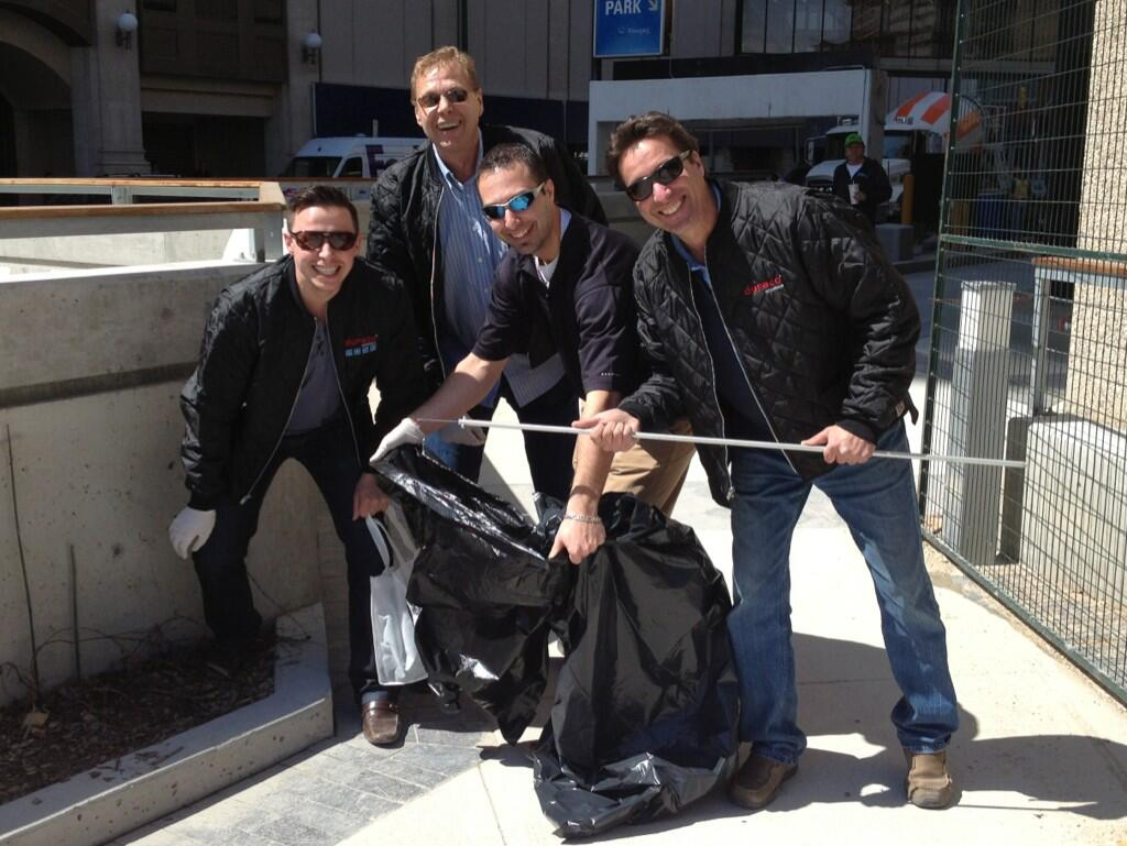 Duraco sales reps cleaning up downtown Winnipeg