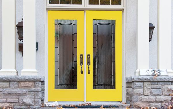 Custom coloured door