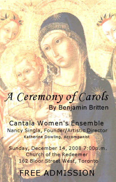 The first Cantala choral project performance poster