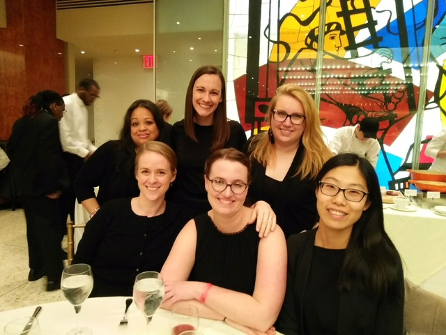 Some Cantala members celebrating to all hours of the night after the performance at Lincoln Center.
