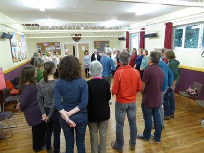 Chris Rowbury and his choir love rehearsing in a circle
