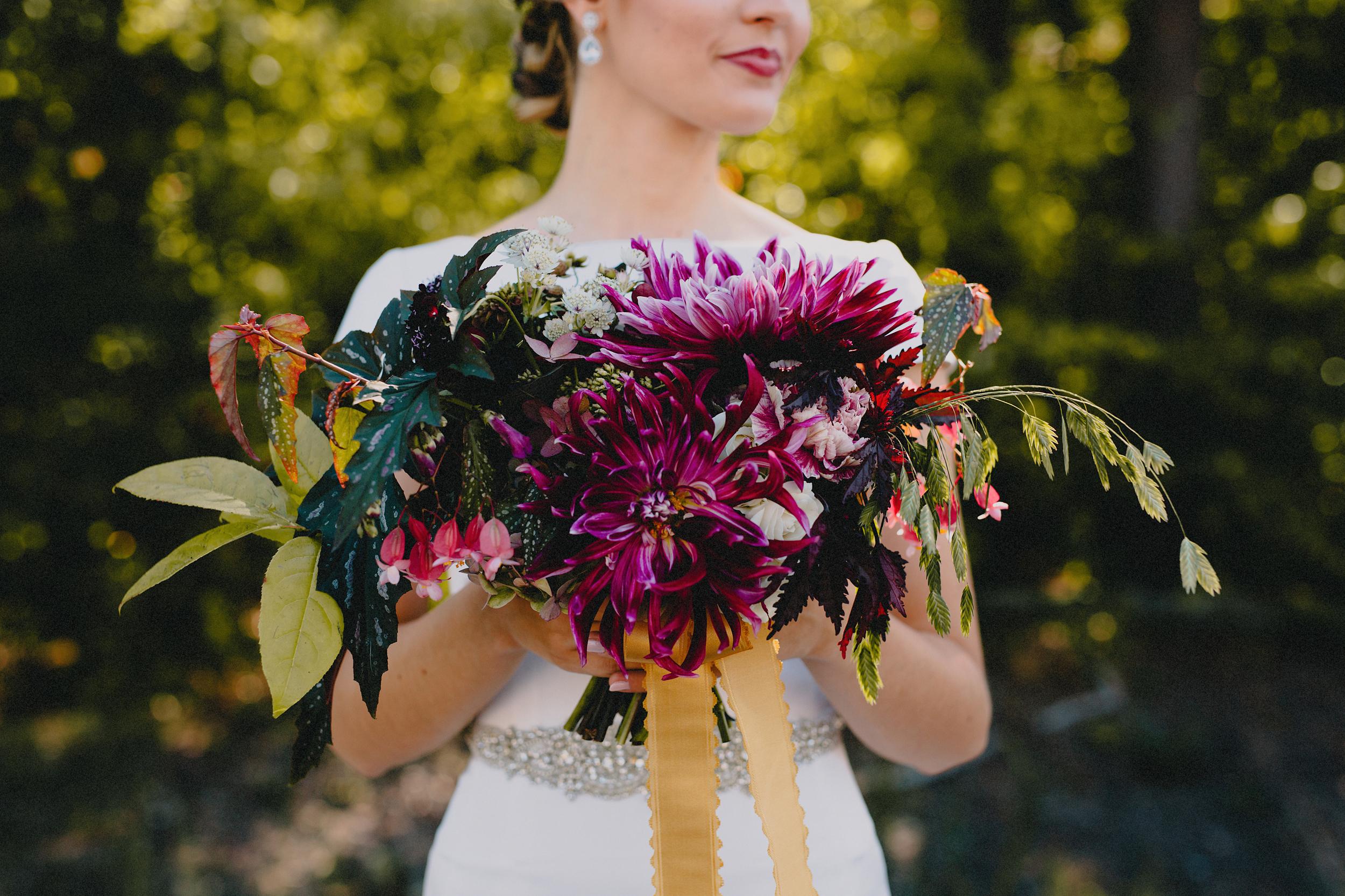 Philosophy Flowers   Kelly Perry   Blest Studios   Dahlias   Begonias   Mayarts Ribbon