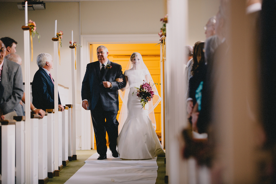 Wedding Ceremony with double aisles   Dad and Daughter   Aisle Markers   Philosophy Flowers   Blest Studios