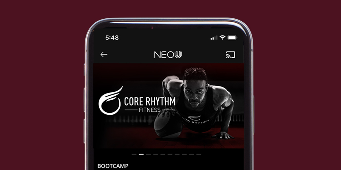 join us ANYTIMe,ANYWHERE - Can't make it to class? We have an app for that! Download the NEOU app to stream CRF classes wherever you are.