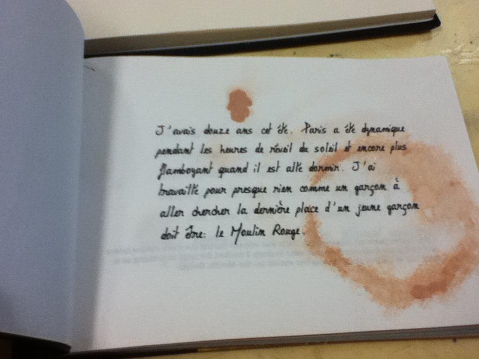 Handmade paper into a book