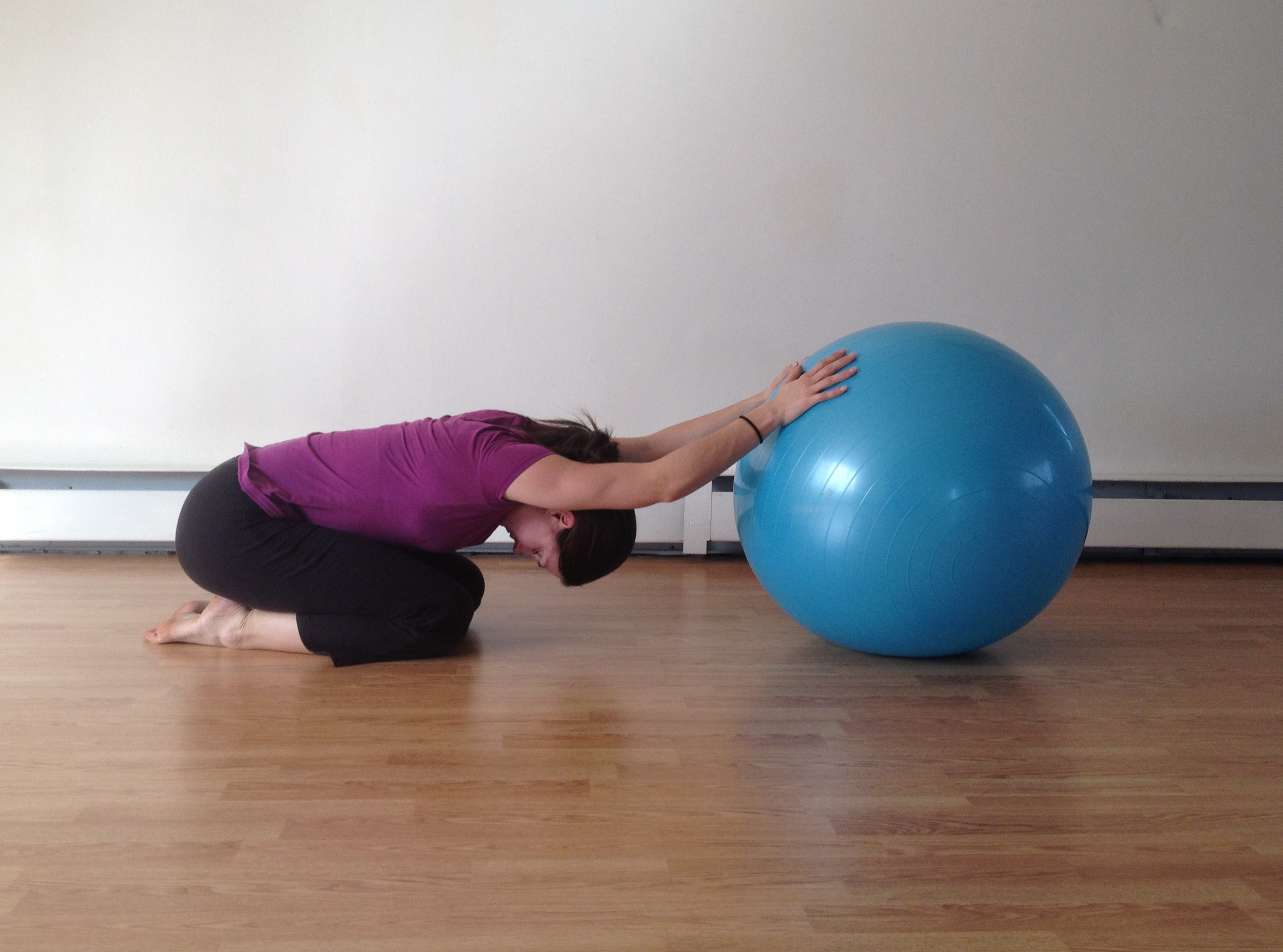 The ball offers a great stretch support