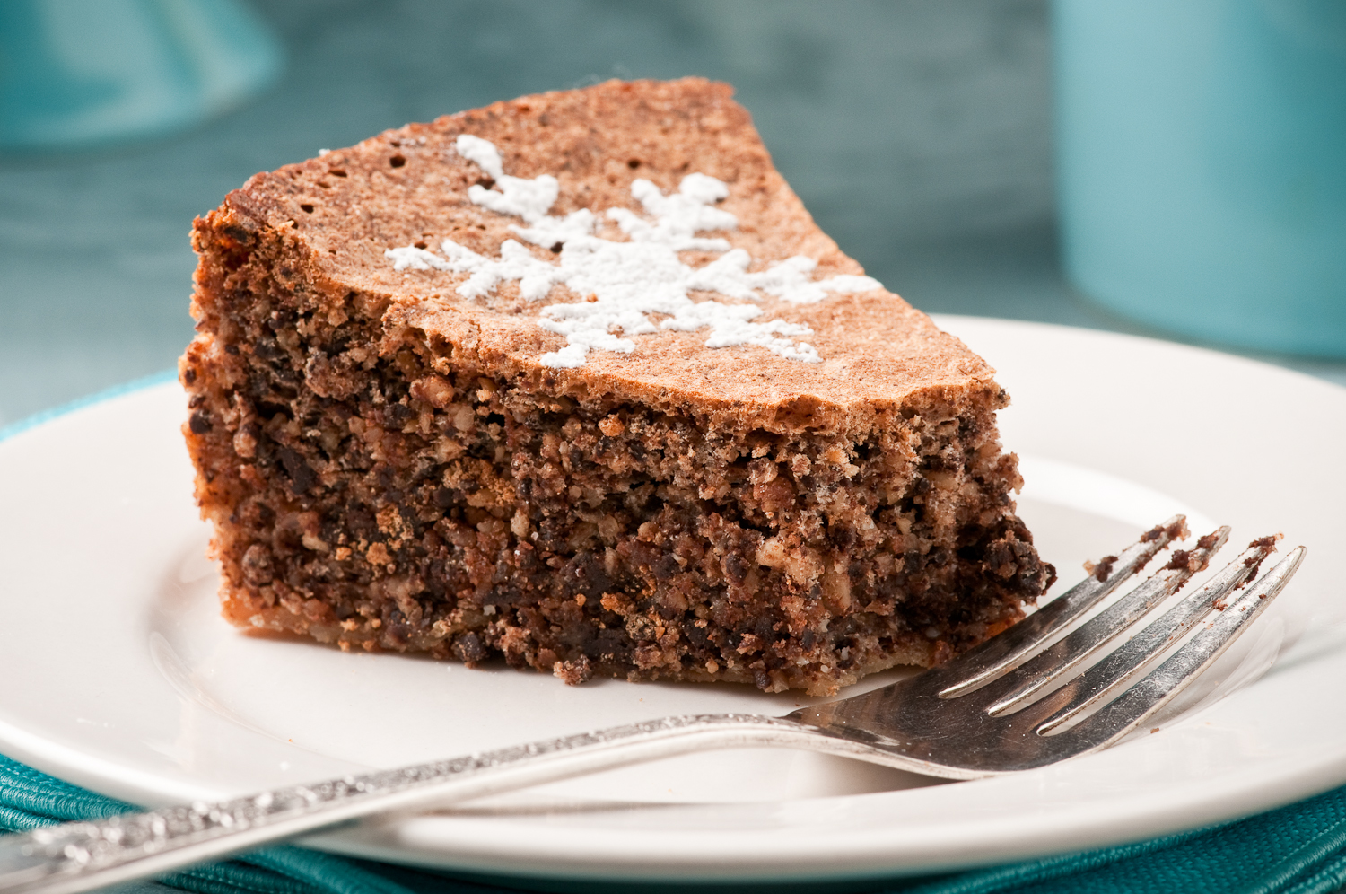 slice of chocolate hazelnut torte