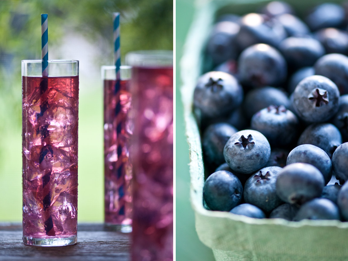 blueberries and blueberry drinks