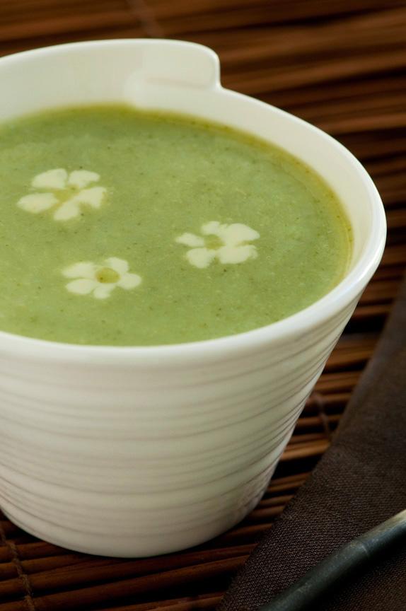 bowl broccoli ginger soup