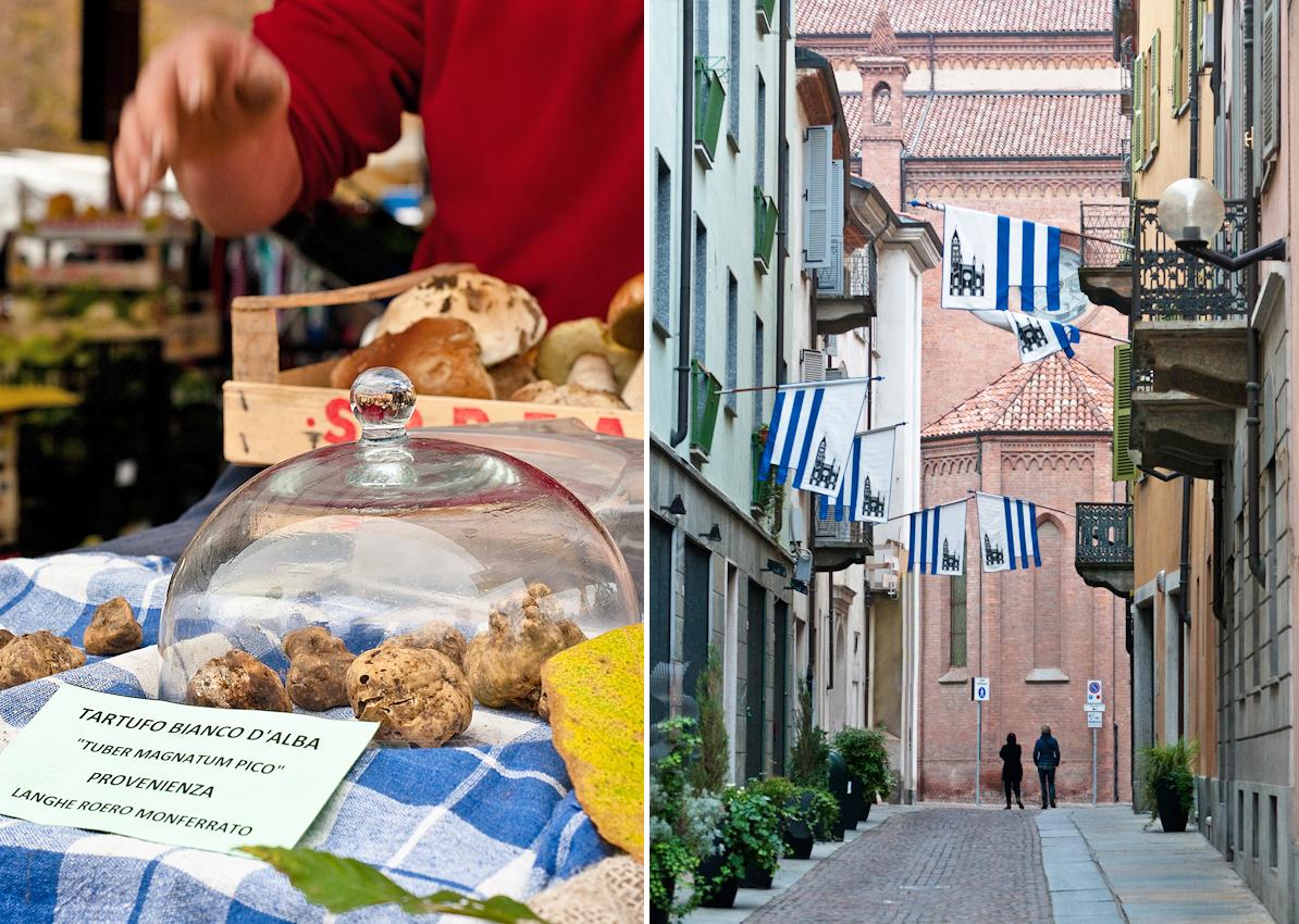 white truffles Alba street