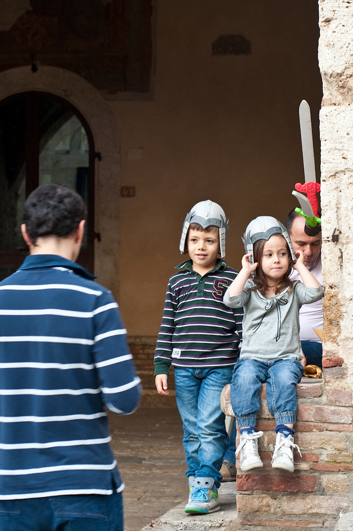 Young warriors of San Gimignano