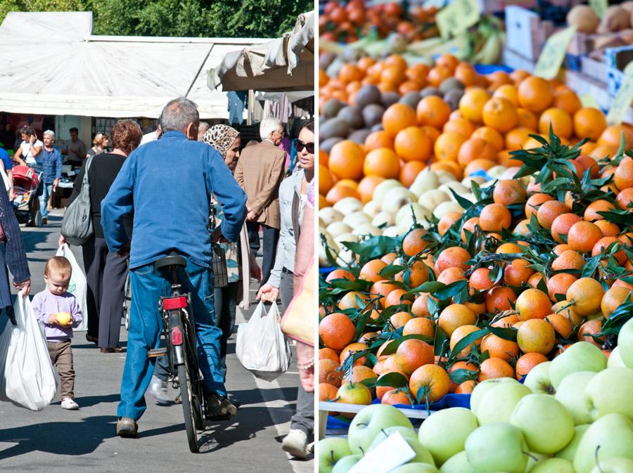Friday is market day in Bra.