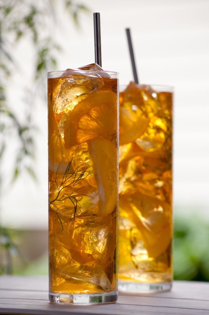iced tea with fennel and honey