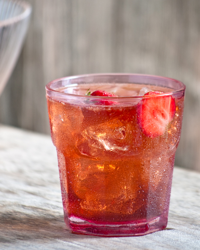 strawberry shrub soda