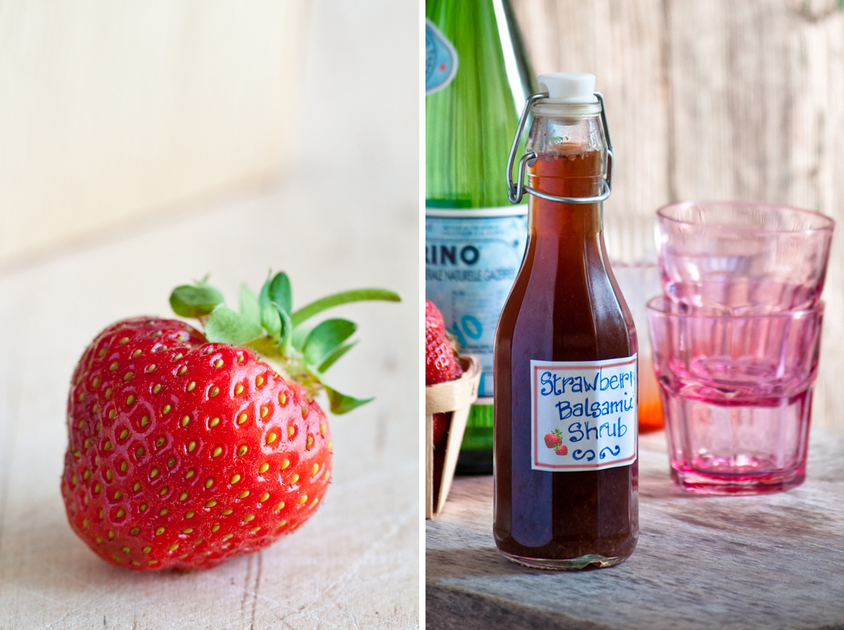 strawberry balsamic shrub syrup