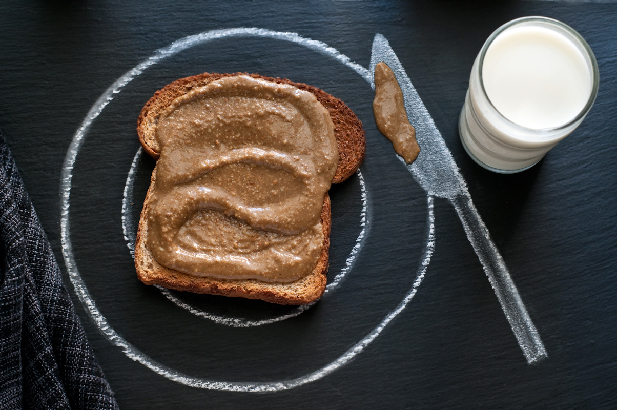 sunflowerseed butter on toast