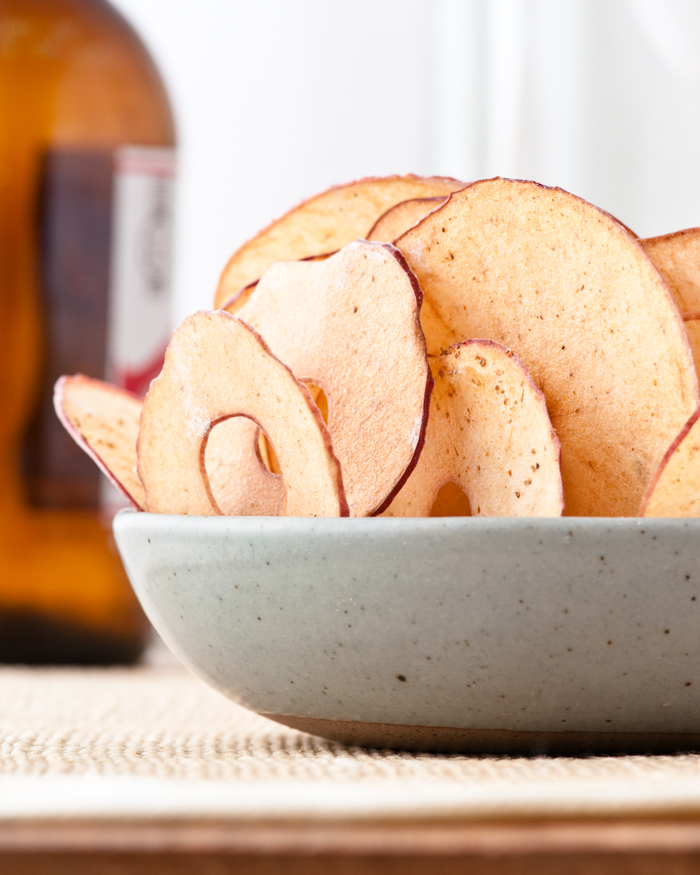 cumin scented apple chips