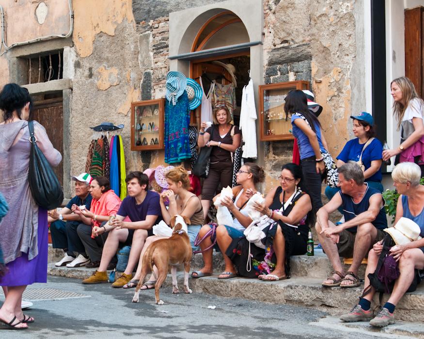 Street food in Vernazza.