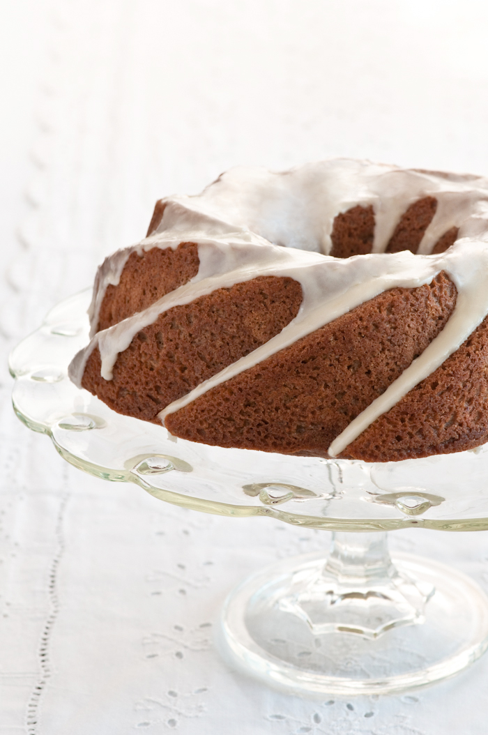 spie bundt with orange glaze