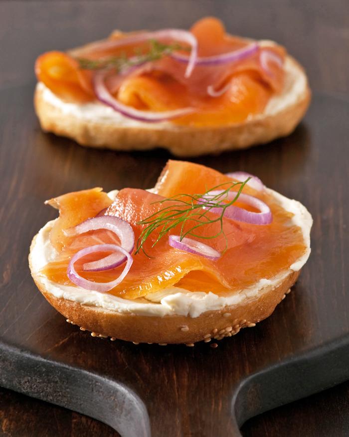 J Willie Krauch smoked salmon bagel