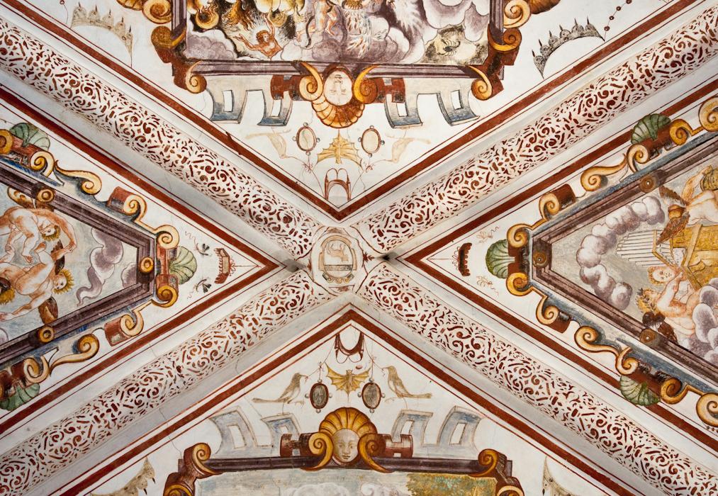 ceiling fresco Castello di Grinzane Cavour