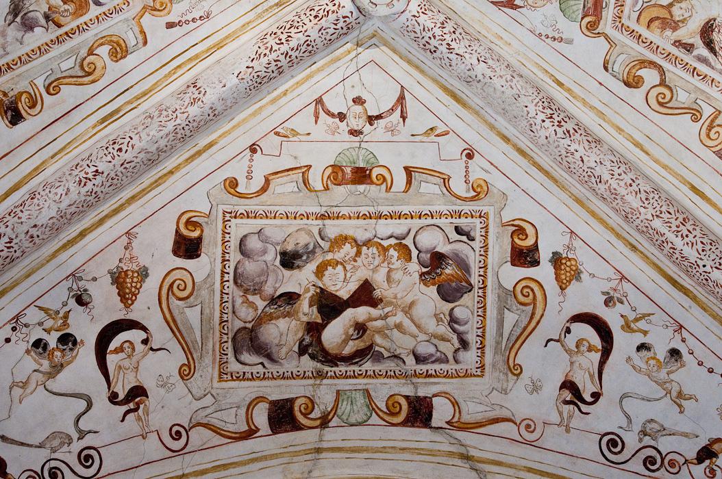 Detail of ceiling fresco.