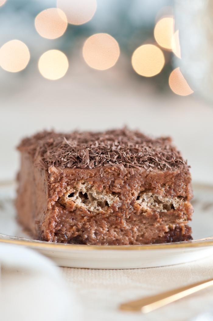 chocolate tiramisu slice