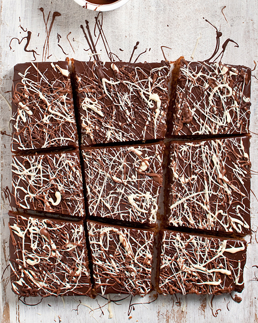 chocolate jackson pollock peanut butter treats
