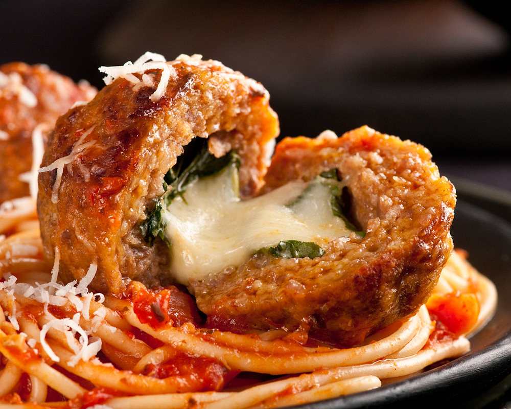 meatballs stuffed with bocconcini cheese