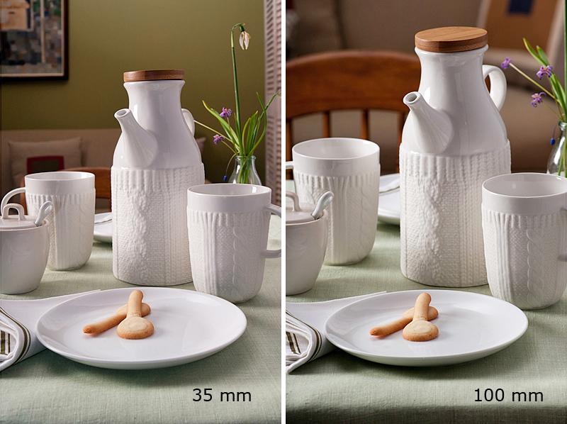 focal length comparision lens distortion