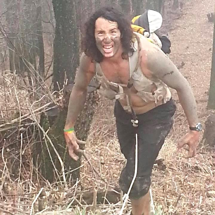Nick Hollon having gone 'feral' during the fifth loop of Barkley 52+hrs into the run.