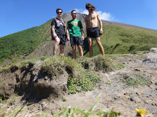 Ian Sharman and Nick & Jamil Coury on Volcan Concepcion