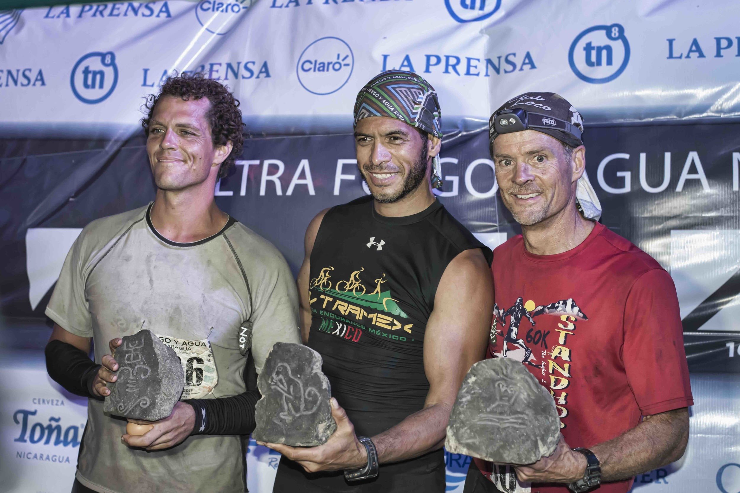 The three finishers of the 2015 Survival Run  Photo by Jeff Genova Photography