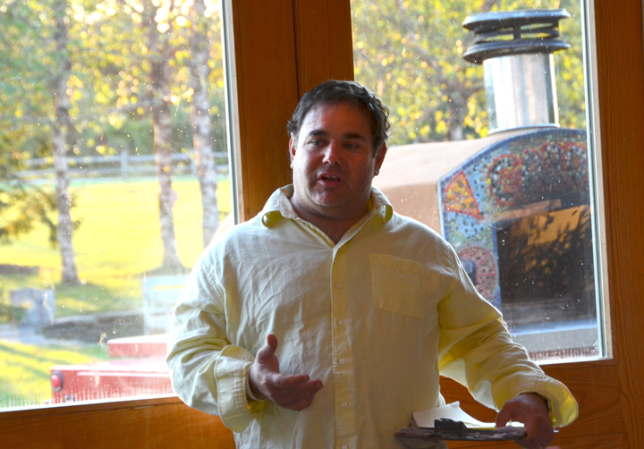 Bryan Futerman the chef of Foody's in Water Mill, NY and the Slow Food East End educational coordinator.