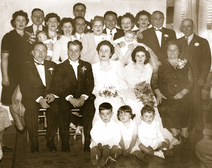 The Bottiglieri Family on my mother's side. My grandfather is in the seated row, far left and my grandmother is in the seated row second one in from the right.