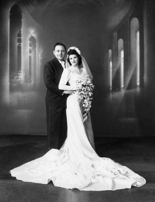 Grandfather, Frank Bottiglieri and Grandmother, Renee Bottiglieri on their wedding day.