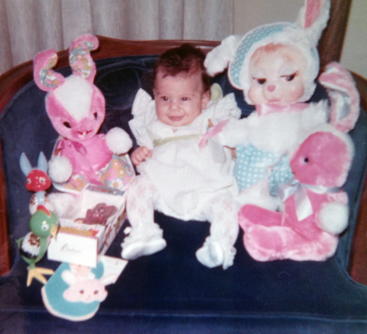 My 1st Easter at 5 months old. Photo Credit: My mother Barbara Luciano.