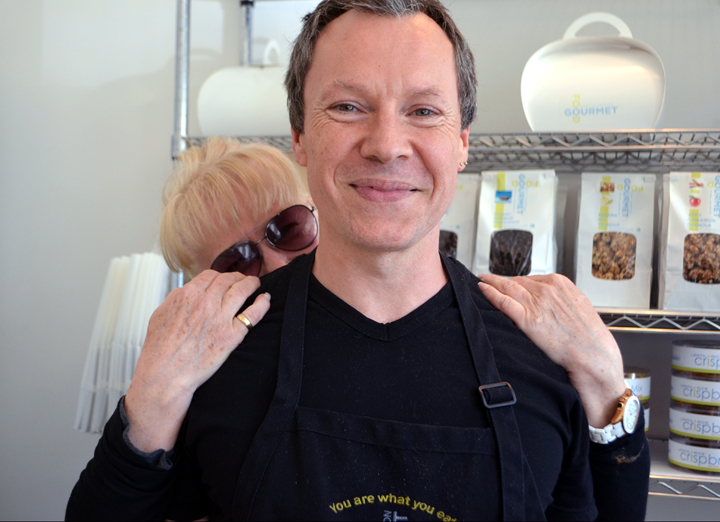 Kate Pratt and Michel Mazuret, owners of East Hampton Gourmet Food.