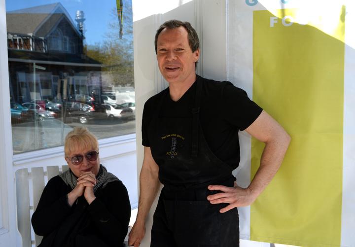 Kate Pratt and Michel Mazuret, owners of East Hampton Gourmet Food