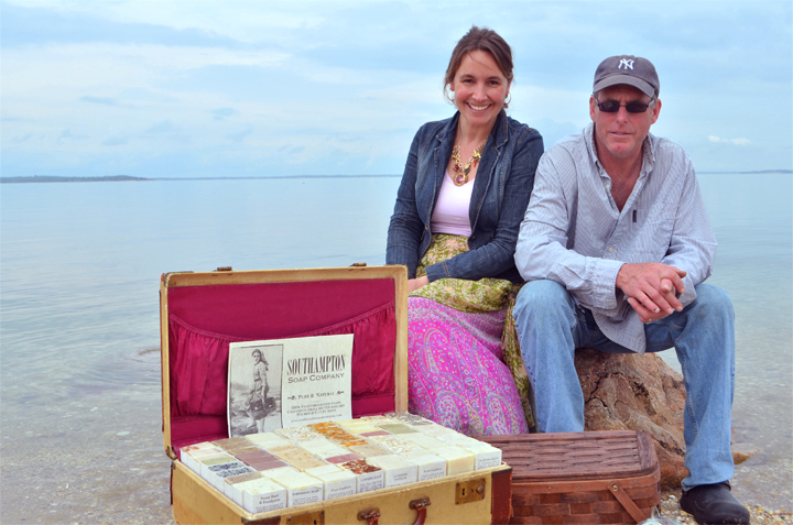 Deborah Lukasik and Chris O'Shaughnessy, owners of the Southampton Soap Company