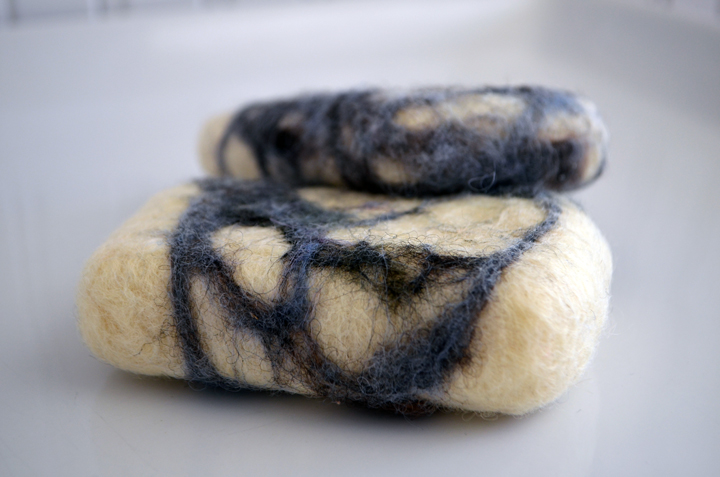 Felted Soap with Sheep's Wool