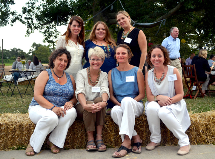 First rw from left : Lea Abrams, Sharon Cook, Alison Aldredge, Kathryn Casey Quigley.  Second row from left:  Liz Casey-Searl, Colleen Hanley, Trish Eckardt
