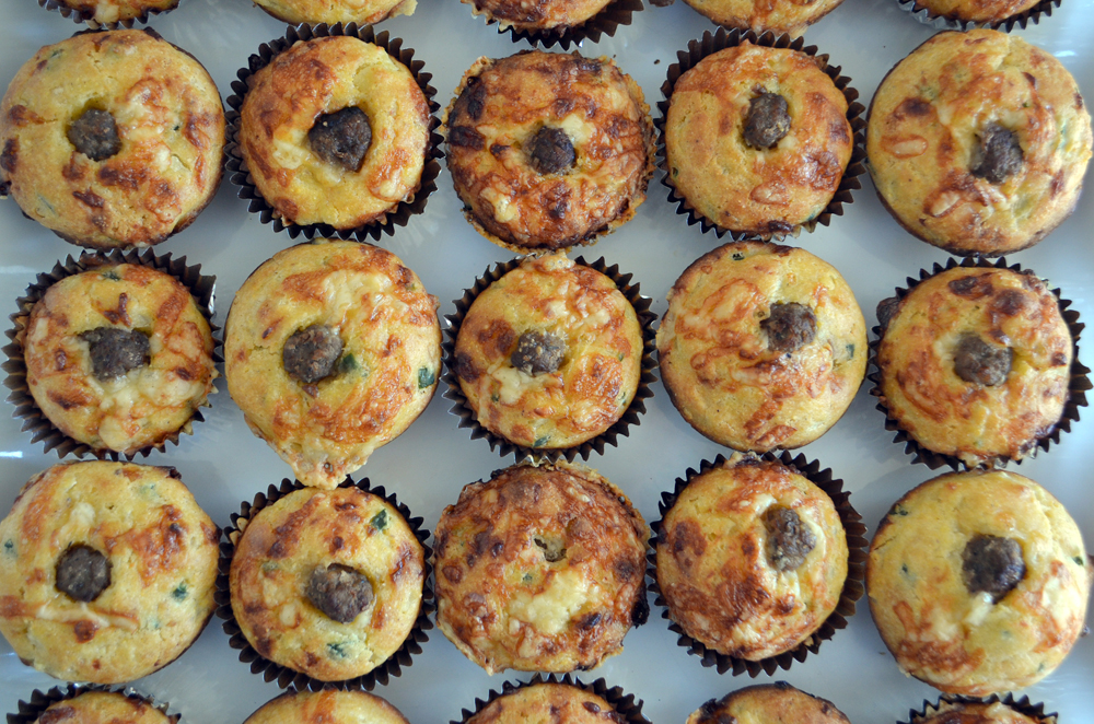 Jalapaño Cheddar Muffins with Sausage