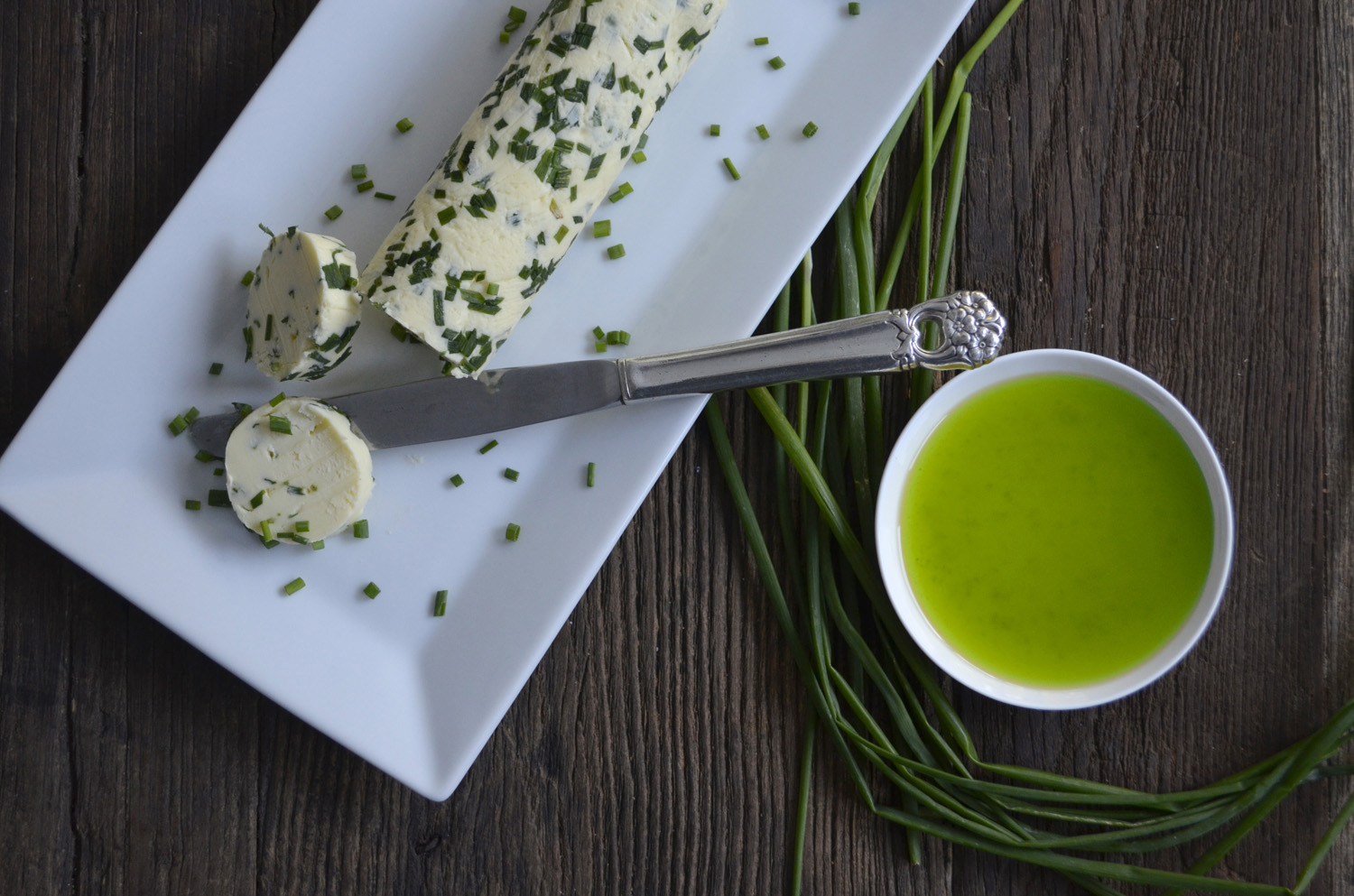 Chive Butter and Oil