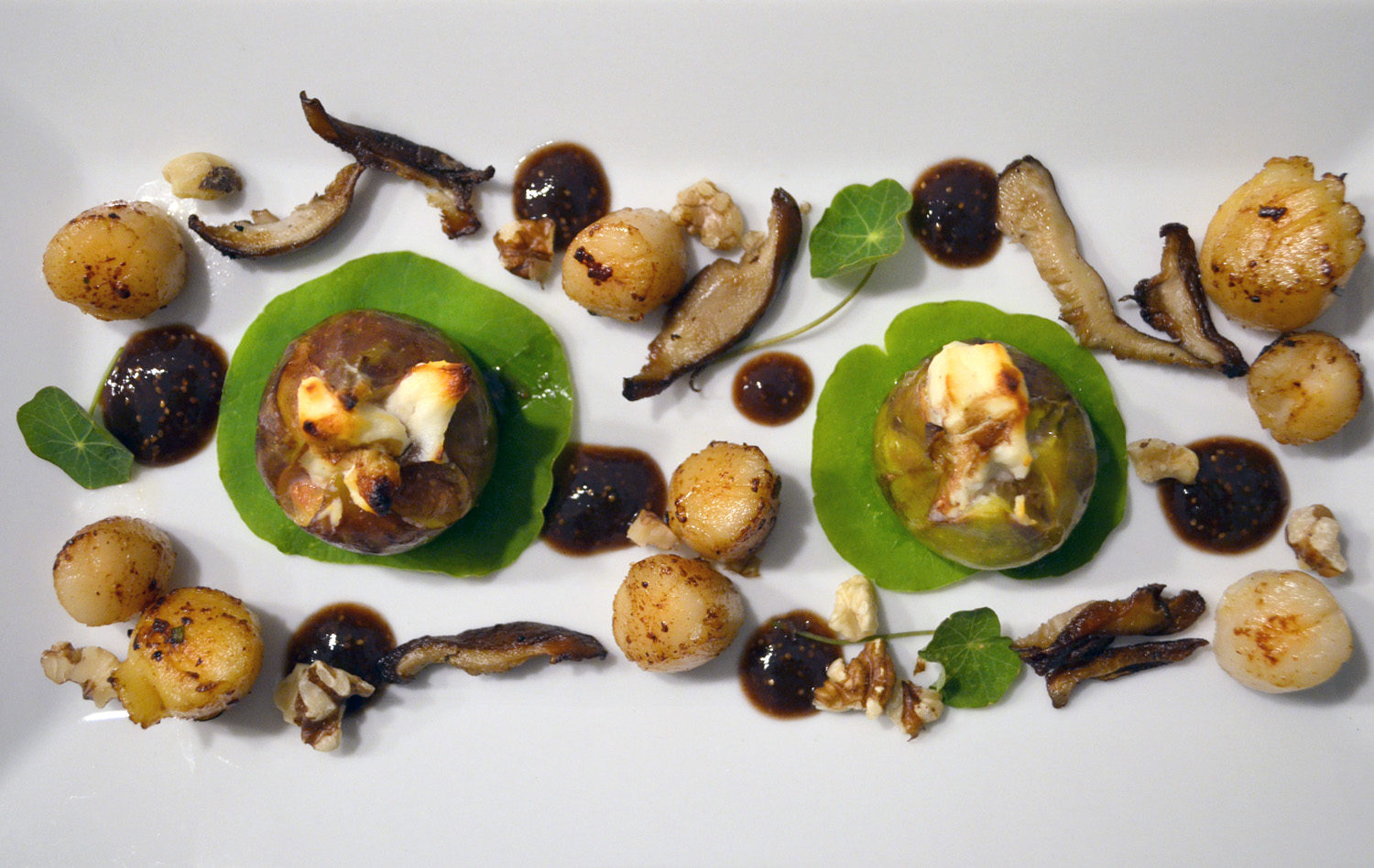 Peconic Bay Scallops and Figs