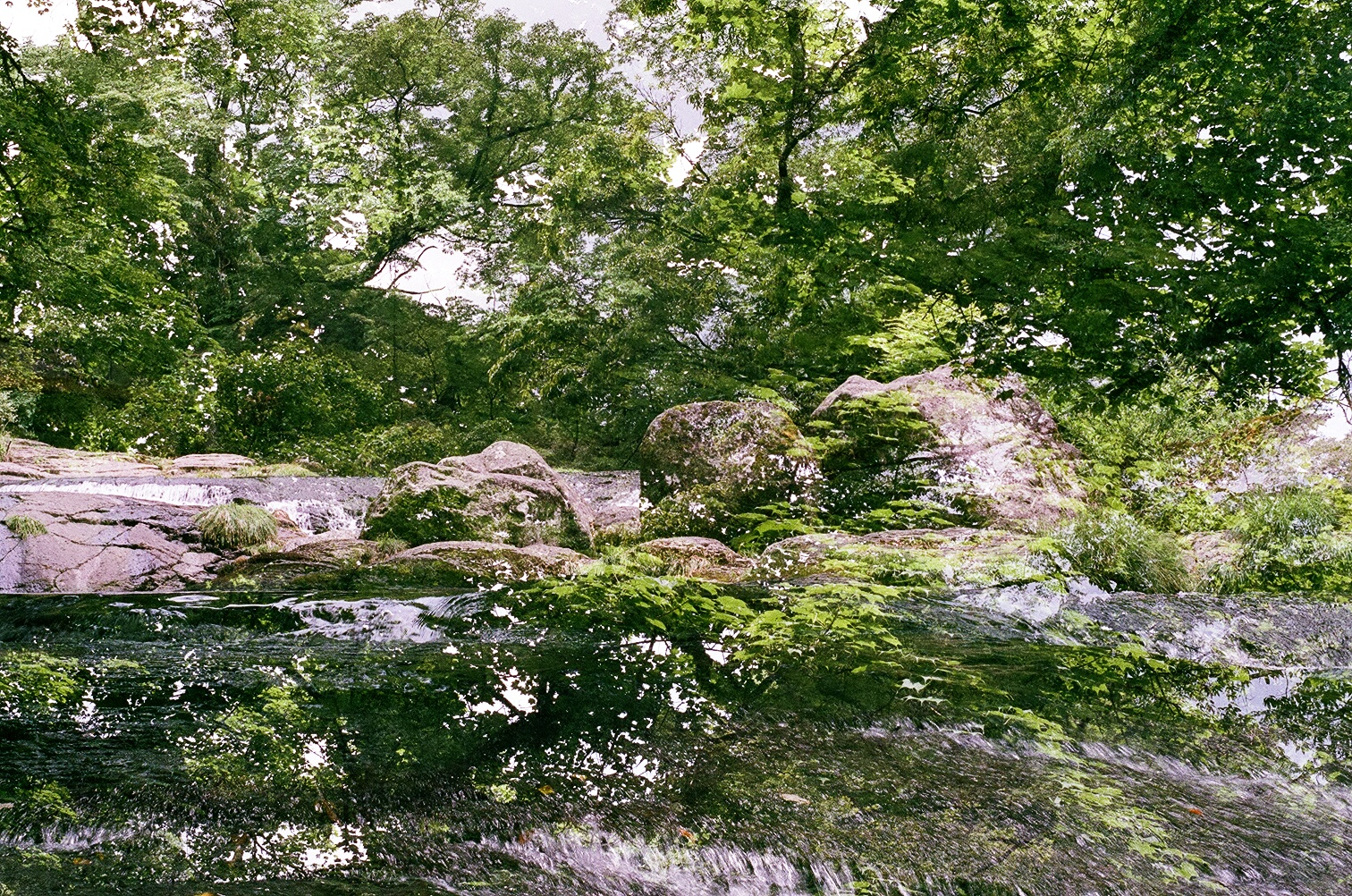 multiple-exposure film photo, Kikuchi Gorge, Kumamoto Japan (2010)