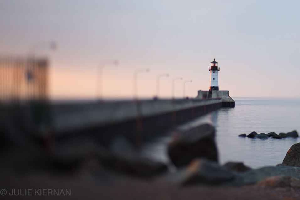 Canal Park Lighthouse at Sunrise