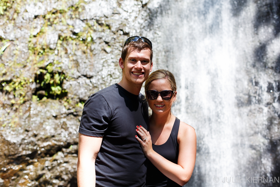 Engaged at the Waterfall in Oahu 52.2.27b