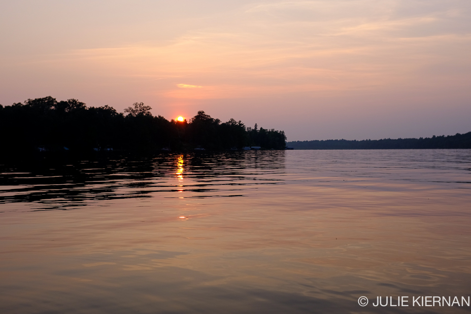 Setting Sun Goodrich Lake