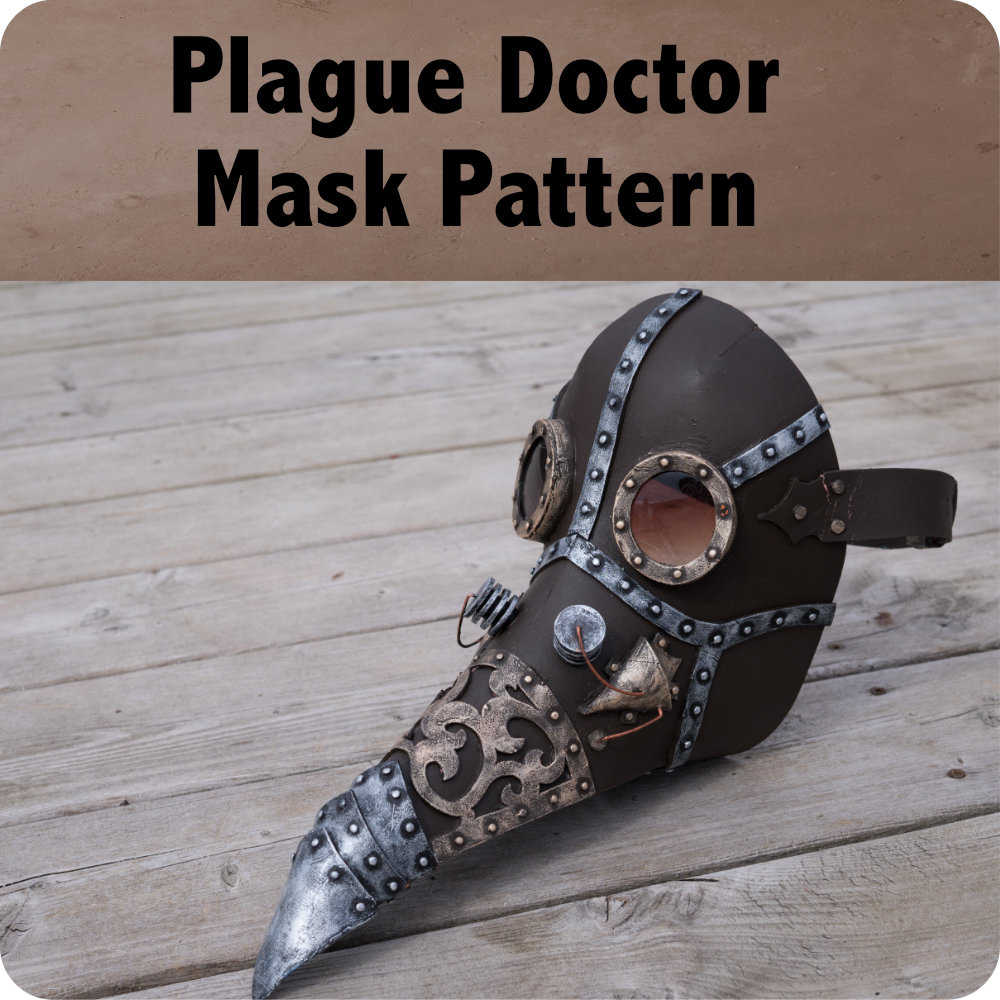 Steampunk Plague Doctor Mask Pattern Photo